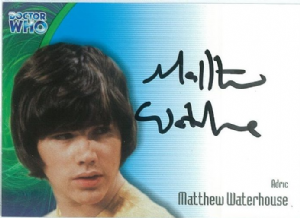Doctor Who MATTHEW WATERHOUSE as Adric  AUTOGRAPH CARD AU3, Strictly Ink -  10644